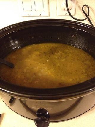 .... En la carne. Recuerde que debe mantener la tapa. Cuando se quita la tapa deja que el calor de cocción. Esto es lo que parece después de 6 horas !!!