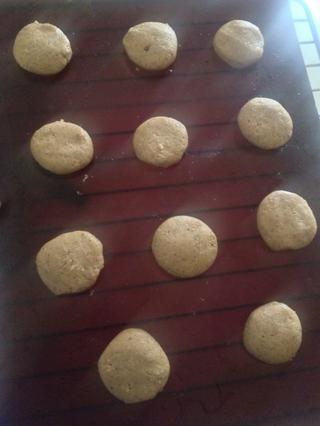 Hacer a las galletas y poner en el horno durante 18 minutos a 180 grados