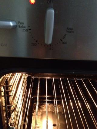 Precaliente el horno a 190C