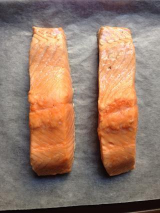 Es hora de sacar el salmón del horno