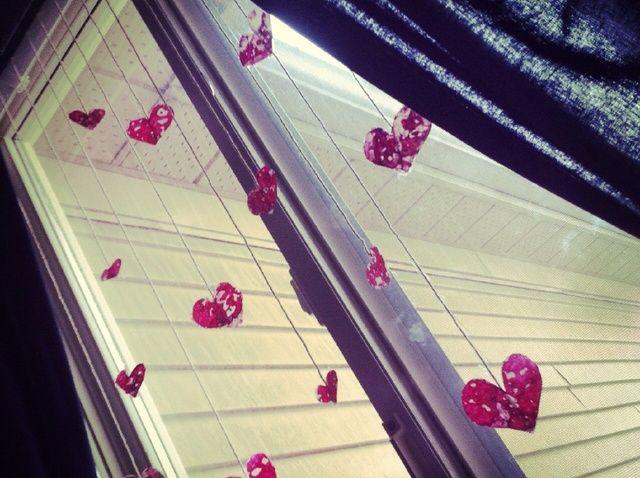 Cómo hacer decoración de la ventana del corazón