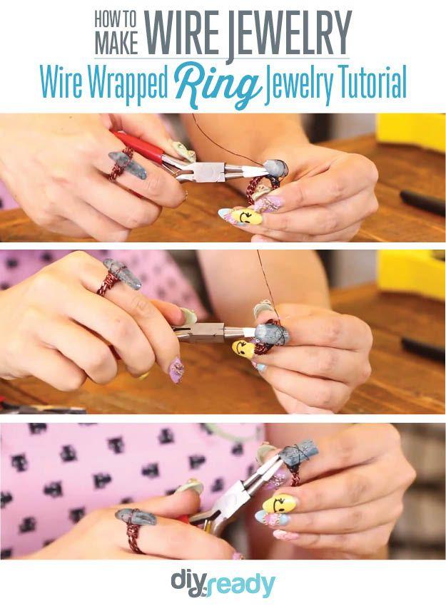 Fotografía - Cómo hacer joyería de alambre | Piedras envoltura de alambre