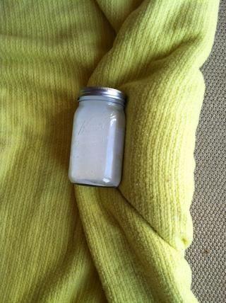 Incubar durante 8 horas (envuelvo frascos en una manta ...)