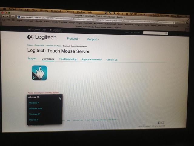 Después inculcado la aplicación en tu iPhone, descargar la aplicación de software en su computadora. Ir a logitech.com/en-us/492/6367?section=downloads Y a continuación, seleccione su sistema operativo.
