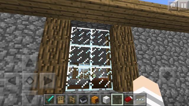 Usted podría poner troncos en el lado de una ventana :)