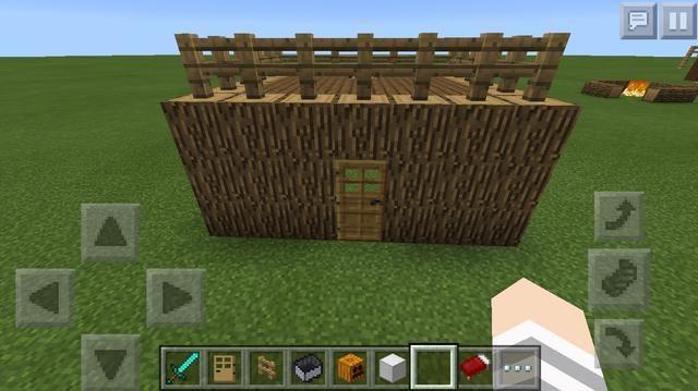 Y por último, si usted hace una choza, se puede poner puertas en el techo: D