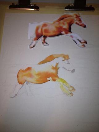 Dibujar con un lápiz la ligera lo que va dibujando, si usted no es bueno en el dibujo cortar la imagen y rastrearlo! Sólo recuerde llamar a la ligera! Comience por evaluar lo que quiere ser de color blanco.