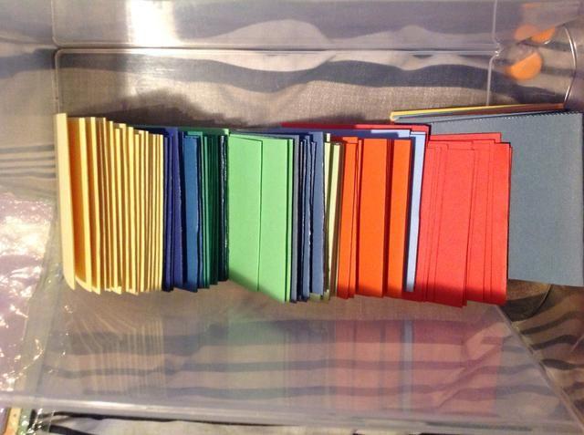 Aquí están todas las 125 tarjetas dobladas!
