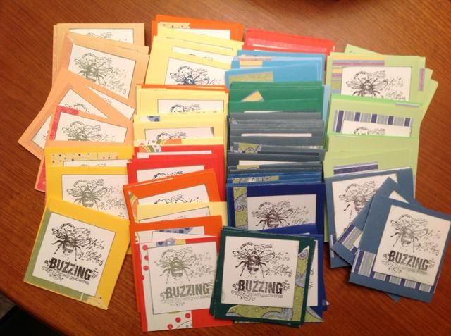 125 tarjetas completaron ... Algo así. Pude parar aquí, pero me gustaría embellecer ellos!