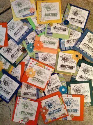 Algunas de las tarjetas adornadas! ¡Disfrutar! faithhopeandart.blogspot.com