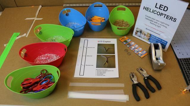 Una foto de los suministros y materiales.