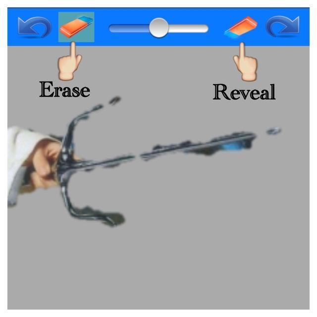 Ahora usted puede hacer algunas revisiones finales. El corte es generalmente bueno, pero esta arma era difícil. Toque en el borrado de la izquierda para borrar más de la partida o revelar a la derecha para revelar más sobre el tema.