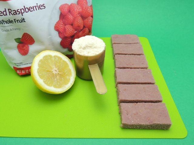 Cómo hacer tu propio frambuesa limón Barras de Proteína Receta