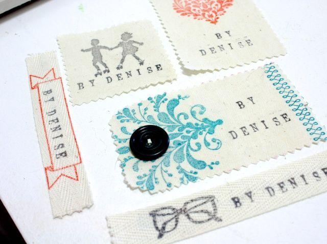 Cómo hacer sus propias etiquetas de costura con Crafters Tinta