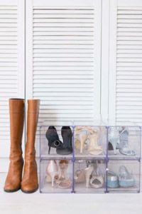 blanco zapatos armario