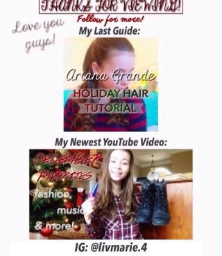 Trabajando en un nuevo vídeo de YouTube ahora por cierto, debe ser en una semana o menos. :) Instagram: instagram.com/livmarie.4