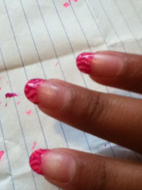 Fotografía - Cómo hacer cebra Consejo Francés Nail Art