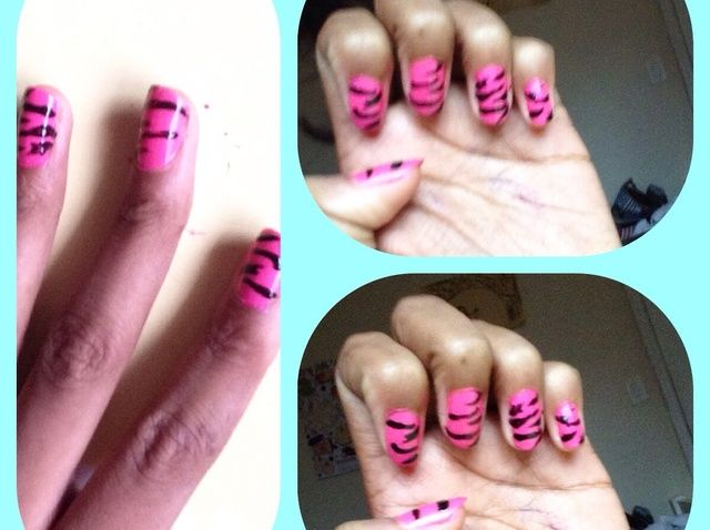 Fotografía - Cómo hacer estampado de zebra Nails