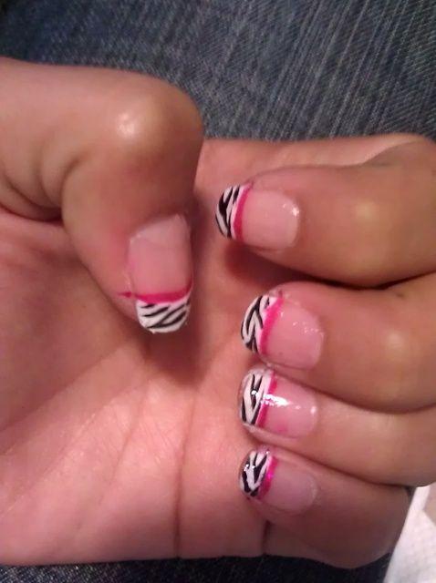 Fotografía - Cómo hacer cebra Sugerencia Con Pink Line Nails