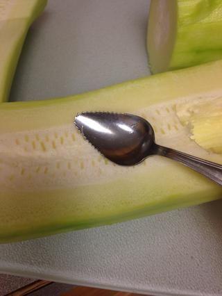 Una cuchara pomelo era mi herramienta de elección.