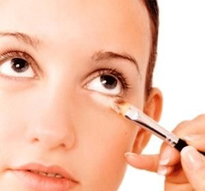 Don't use an oily concealer under the eye as during the day it will gather in fine lines, and will ruin your makeup ALL DAY.