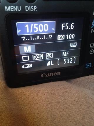1/500 es un ejemplo de una velocidad de obturación rápida que doesn't let in much light but will take a clear image even without a tripod