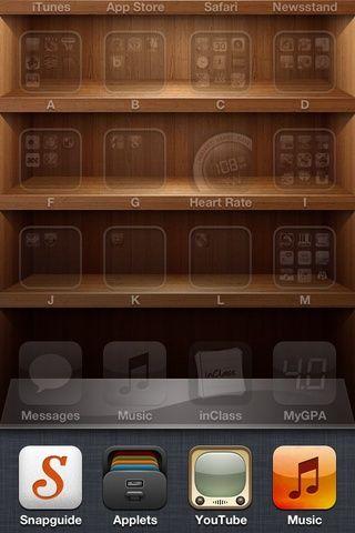 Pulsando dos veces el botón de inicio en el iPod, usted debería ser capaz de criar a un pequeño menú en la quinta parte inferior del dispositivo.