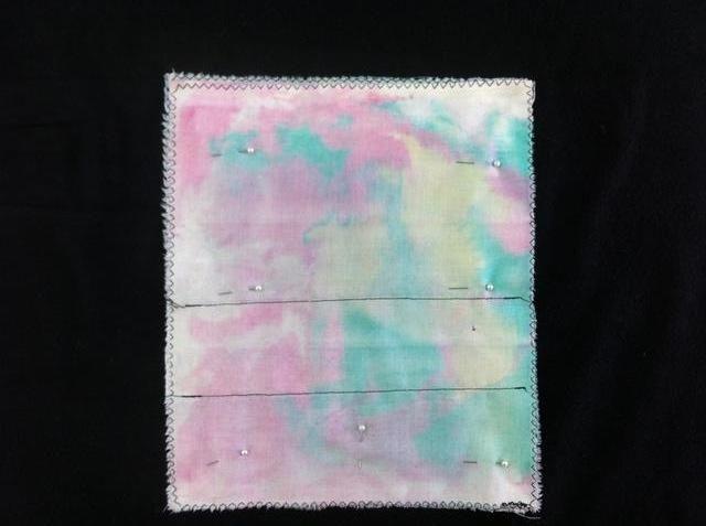 Observe sólo 2 laterales y 1 final están puestas. El extremo superior de esta foto no se coserá juntos para salir de la apertura de la bolsa.