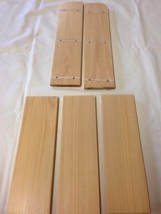 Aquí están todas las piezas después de 3 capas de Estapol. El bastidor está ahora listo para ser pegadas.