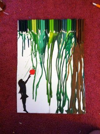 Aquí está uno de terminados mis queridos! Me gusta dibujar cualquier cosa parece que va a encajar. Por lo tanto, para este que dibujé una niña recogiendo una manzana.
