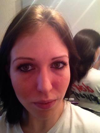 Mi cabello antes .... sólo para ver la diferencia :)