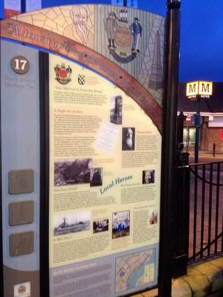 Panel 17,'A Town where no town ought to be', outside North Shields Metro Station, a convenient point to end this walk.