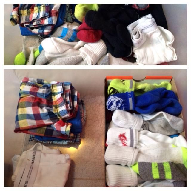 Guarde esas cajas de zapatos y organiza tu cajón de los calcetines! ¡Disfrutar!