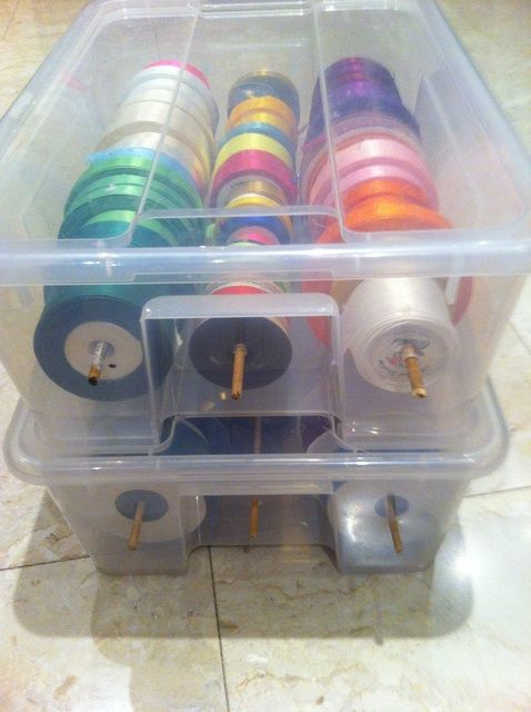 Cómo organizar la caja de la cinta