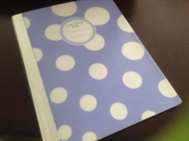 aquí's a notebook I got at JoAnns for $1.97, it's super cute