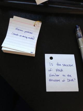 Me gusta escribir la pregunta en el lado en blanco ...