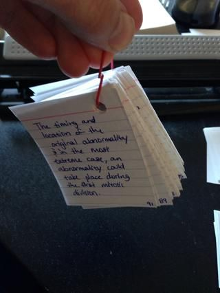 Sí éste capítulo llamado para 91 pequeñas tarjetas de nota, lo que habría sido un dolor de bolsa en torno a si se tratara de tamaño normal ...