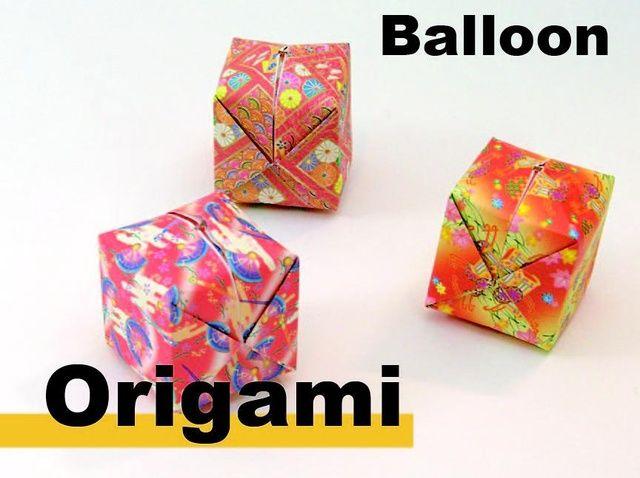 Cómo origami un globo