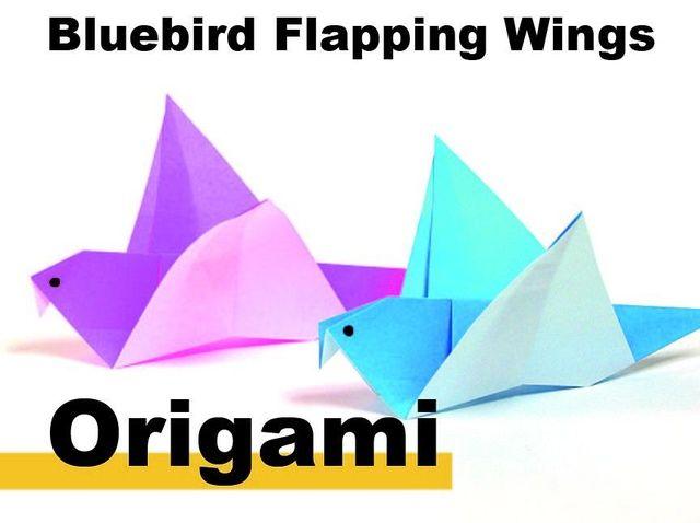 Cómo origami un pájaro azul
