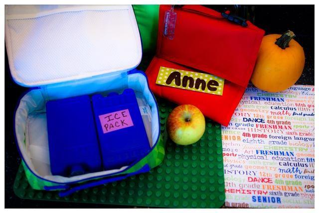 Empaque sus artículos perecederos en su bolsa de almuerzo. Para empezar, primero abrir su bolsa de almuerzo y coloque acumulador de frío congelados en la parte inferior.