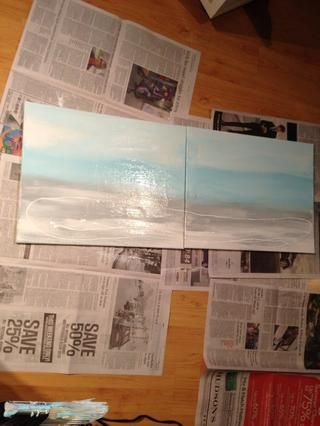 Luego añade grises y azules oscuros en el medio. Hice esto varias veces hasta que llegué a mi aspecto deseado.