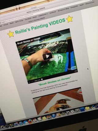 En mi sitio web que usted puede ver vídeos 3 pintura que he creado (con iMovie en un Mac) para más consejos e ideas. Tengo una página docencia allí también. Me encanta la pintura y estoy feliz de compartir.