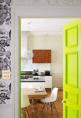 Cómo pintar una puerta - Verde