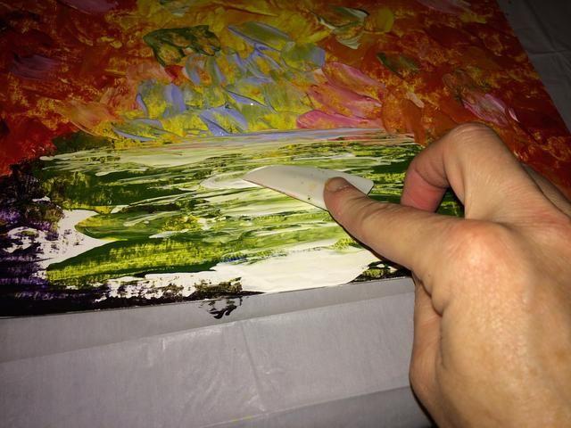 Añadir blanca para romper el verde!
