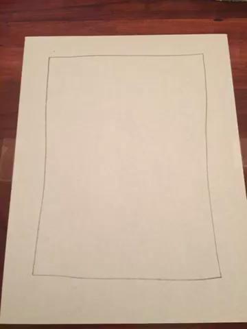 Utilice el valor 2 para pintar su primera montaña en la parte superior del papel.