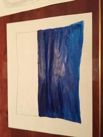 Utilice el valor 3 para pintar sobre la mitad inferior de su agua. Mezcla en el valor 3 con su primera capa de pintura.