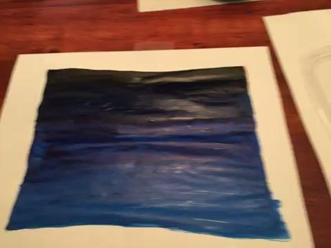 Utilice el valor 2 para pintar las ondas resaltados en el agua. Asegúrese de que su pintura es sólo en la punta de su pincel.