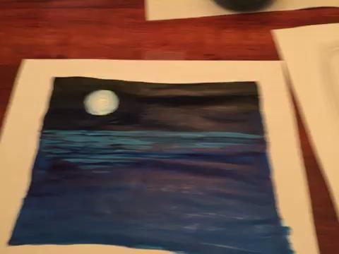 El valor de uso 1 (blanco) para añadir las ondas de reflexión bajo la luna.