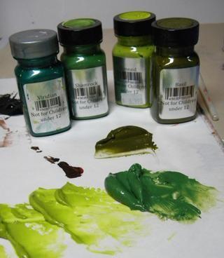 Para las hojas usé Limeade, Shamrock y Basilio Velvet y Viridian sorbete.