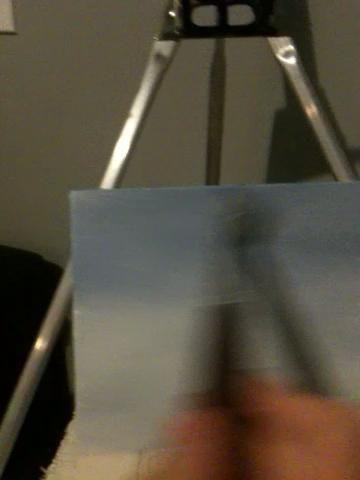 Me cambié a mi pincel de abanico y se fue sobre él sin pintura en mi cepillo para recoger el exceso de pintura. Luego limpiar mis pinceles